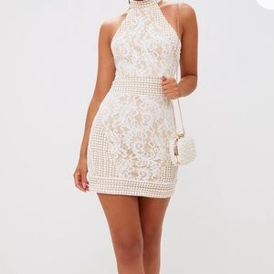 🆕 PrettyLittleThing high neck lace dress, size 10